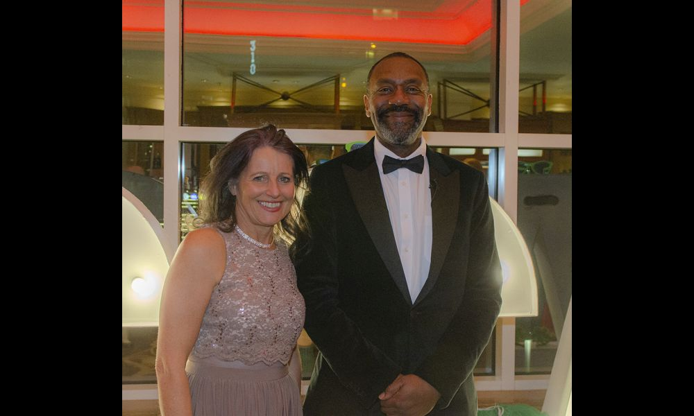 Anne Marie Forsyth and Sir Lenny Henry